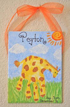 animal hand prints, diy handprint art, diy foot print canvas, alphabet hand or foot prints, print giraff, anim hand