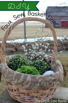 The Creek Line House: DIY Faux Sew Basket Liner