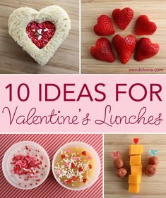 10 Ideas for kid's Valentine Lunches