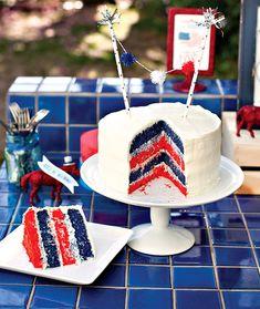 DIY Patriotic Layer Cake @Natasha Sutila Schue via Sutila Schuea