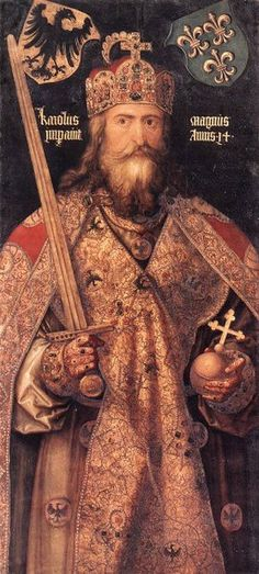 Charlemagne King of France, Holy Roman Emperor + Hildegarde of Swabia