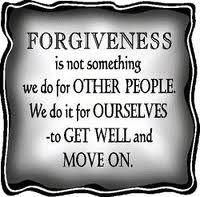 Forgiveness our greatest gift we can give ourselves!