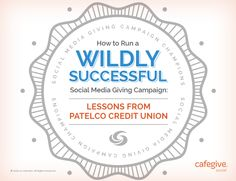 How To Run a Wildly Successful Social Media Giving Campaign [GUIDE]  Tips & resources that are useful for running your #giving campaigns, whether you use #FacebookContests or other channels