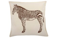 Zebra 18x18 Pillow, Java on OneKingsLane.com