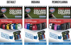Finish Line used real-time geo-targeting to promote different college apparel depending on where the subscriber opened the email. For example, when the email was opened in Indiana, subscribers saw college apparel related to the state. #emailmarketing #geotargeting #realtime #retail