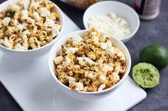 Fajita-Flavored Popcorn with Queso Fresco
