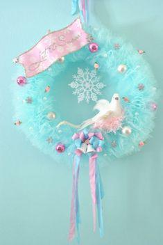 Let it snow tulle wreath