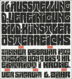 Art Nouveau Typography