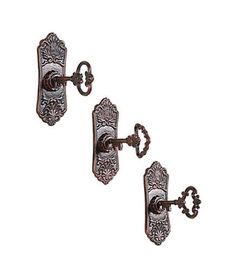 Cast-Iron Key-in-Lock Wall Hooks Set too cute!!!!! $22 for 3