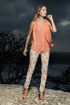 Camisa Ciruela - Plum Blouse The color Wear.