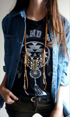 Coachella Turquoise Breastplate Leather Necklace Coachella Jewelry Style Necklace Tribal Native American Navajo Necklace Indie Rocker Boho