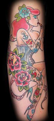 Lipstick Pin Up Girl Tattoo