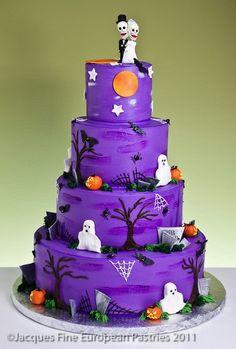 Spooky October Wedding Cake