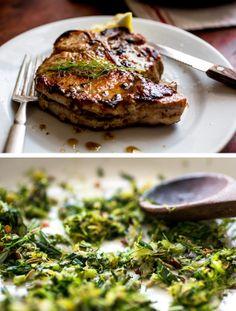 piggi, cook, porchetta pork chops, quick, food photography