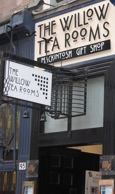 Glasgow, Willow Tea Room, Charles Rennie #Mackintosh