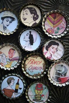 vintage posters, crafty secrets, magnets, housewivesvintag ad, craft idea, vintag magnet, crafti secret, dream kitchens
