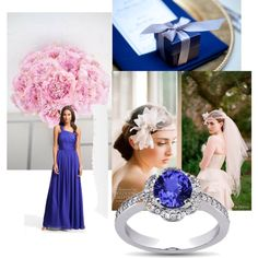 The Blue And Pink Wedding, created by adelia-singleton on Polyvore