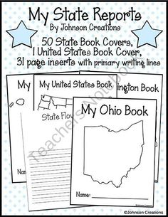 State Report Worksheet Sketch Coloring Page
