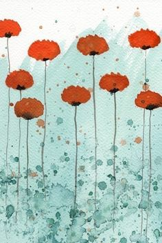 Simple poppies.