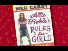ALLIE FINKLE'S RULES FOR GIRLS by MEG CABOT. Nine-year-old Allie Finkle has rules for everything and is even writing her own rule book, but her world is turned upside-down when she learns that her family is moving across town, which will mean a new house, school, best friend, and plenty of new rules. Official book trailer created by ScholasticKids.