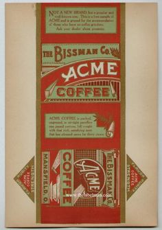 old label ...acme coffee.
