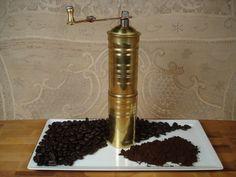 Hand Held Brass Coffee Mill