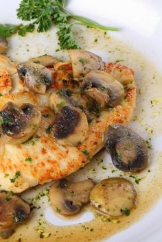 Chicken Marsala ~ A delicious, classic chicken dish -- lightly coated chicken breasts braised with Marsala wine and mushrooms. Easy and ideal for both a quick weeknight entree AND serving to company..