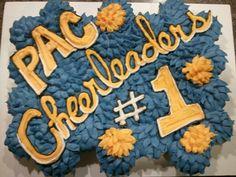 Cupcakes by Mars! Cheerleader cupcake cake.