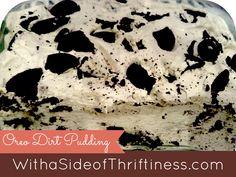 Oreo Dirt Pudding Dessert Recipe, it's a crowd pleasing keeper!