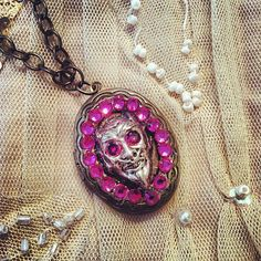 Hot Pink Demon Locket by gigideluxe on Etsy, $65.00