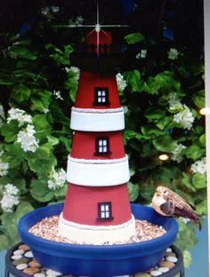 Clay pot lighthouse idea