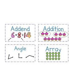 Visual Math Vocabulary Flashcards for Common Core 2nd Grade.