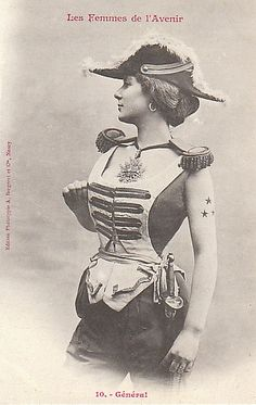 """Women of the future"" postcards from France, 1902."