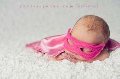 Baby girl superhero