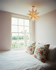 pretty light in a pretty bedroom...