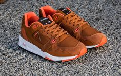 Le Coq Sportif R1000: Brown Leather