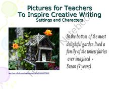 creative writing - pictures for settings and characters from pictures for teachers on TeachersNotebook.com -  (14 pages)  - Creative writing activity involving 12 incredible homes. Inspire your pupils to write imaginative sentences using this simple but incredibly effective set of pictures and ideas.