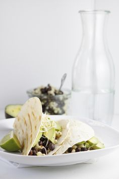 Black Bean and Avocado Grilled Tacos