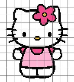 Hello Kitty Crochet Graph/Chart by LilyGirlCreations on Etsy