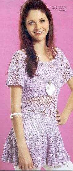 crochet dress with diagrams