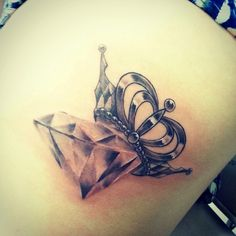 Diamond And Crown Tattoo Designs Albuquerque diamond crown Queen Of Diamonds Tattoo