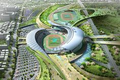 populous : main stadium for 2014 incheon asian games