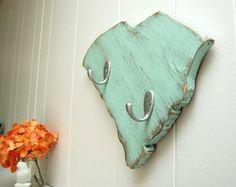 South Carolina handmade wood key hooks--- I want one!