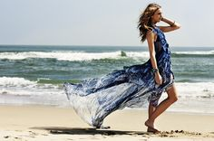 flowing summer fashion by the sea