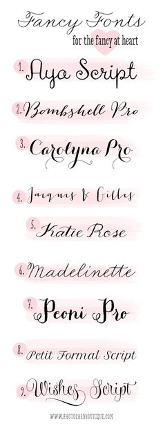 Fonts that would make great script tats Number 9 Wishes Script yes.