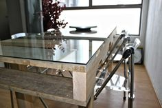 Mesa comedor con palets