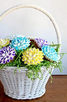 holiday, color sprinkl, marshmallow flower cupcakes, yammi nosheri, food, mini marshmallow, make flowers, marshmallows, dessert