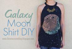 DIY Galaxy Moon Shirt