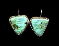 Kay Seurat Earrings, Green Turquoise from Kay Seurat