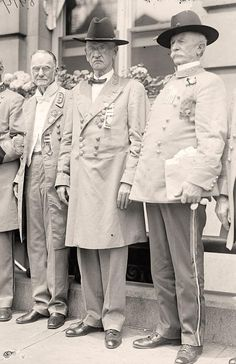 Confederate Reunion. General Harrison of Mississippi, Commander in Chief, With Generals Mickey and Dinkins.